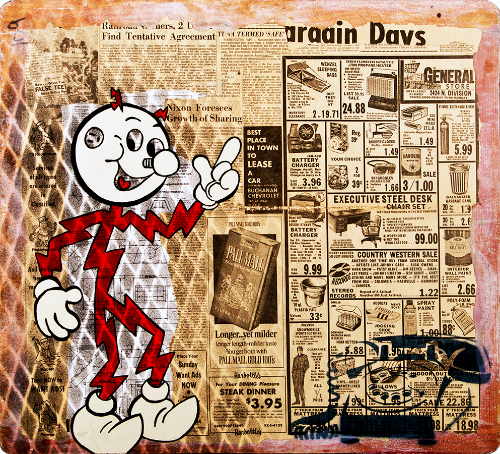 Reddy Kilowatt Waiting For A Call From Godot