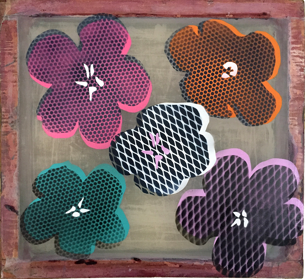 Five Flowers - After Warhol