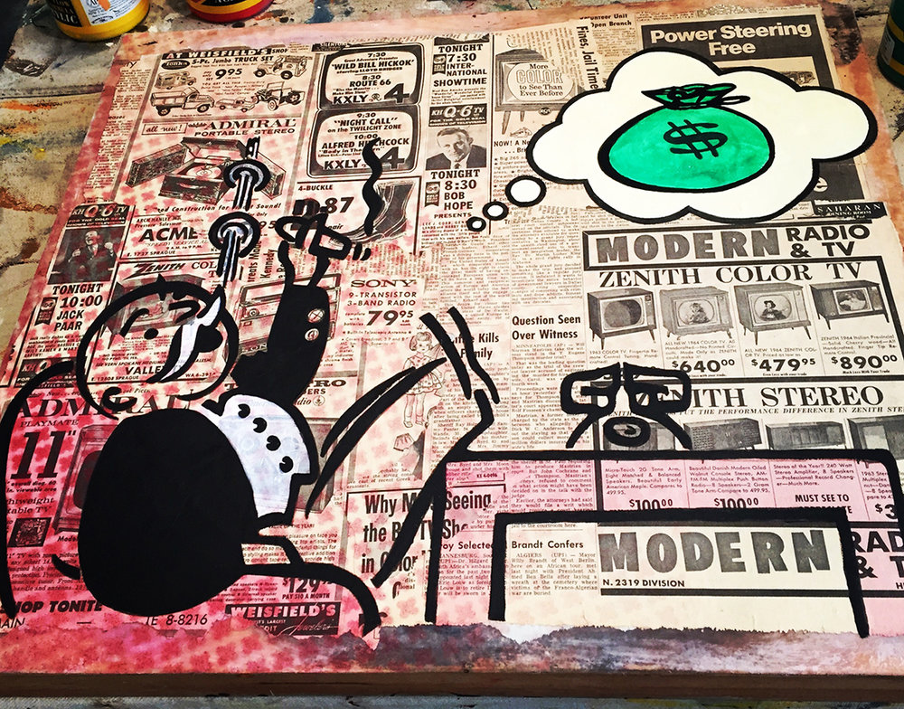 In Progress Studio View - Dreaming About the Money
