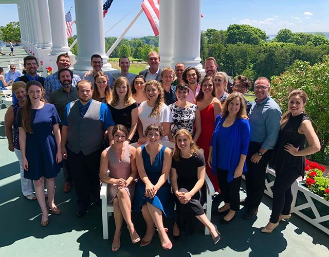 UNVI 2018 at the Grand Hotel on Mackinac Island. Our eighth summer up here - amazing as always #UNVI2018 #unvilievable #crookedtreeartscenter