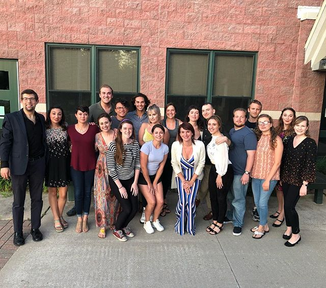 Rebecca Schorsch master class group photo! #UNVI2018  #crookedtreeartscenter UNVIlievable