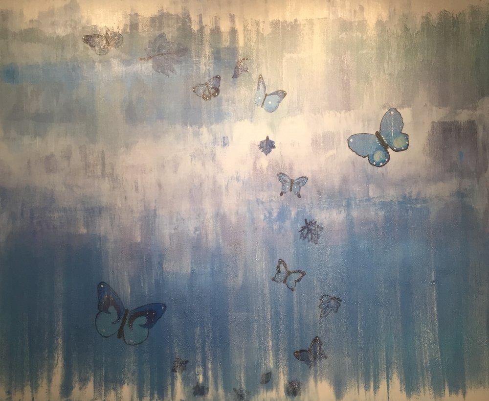 Papillons Dan Le Bleu