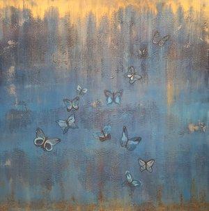 Papillons De Diana En Bleu