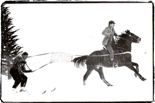 Vintage Skijoring Frayed Edge Photo .jpg