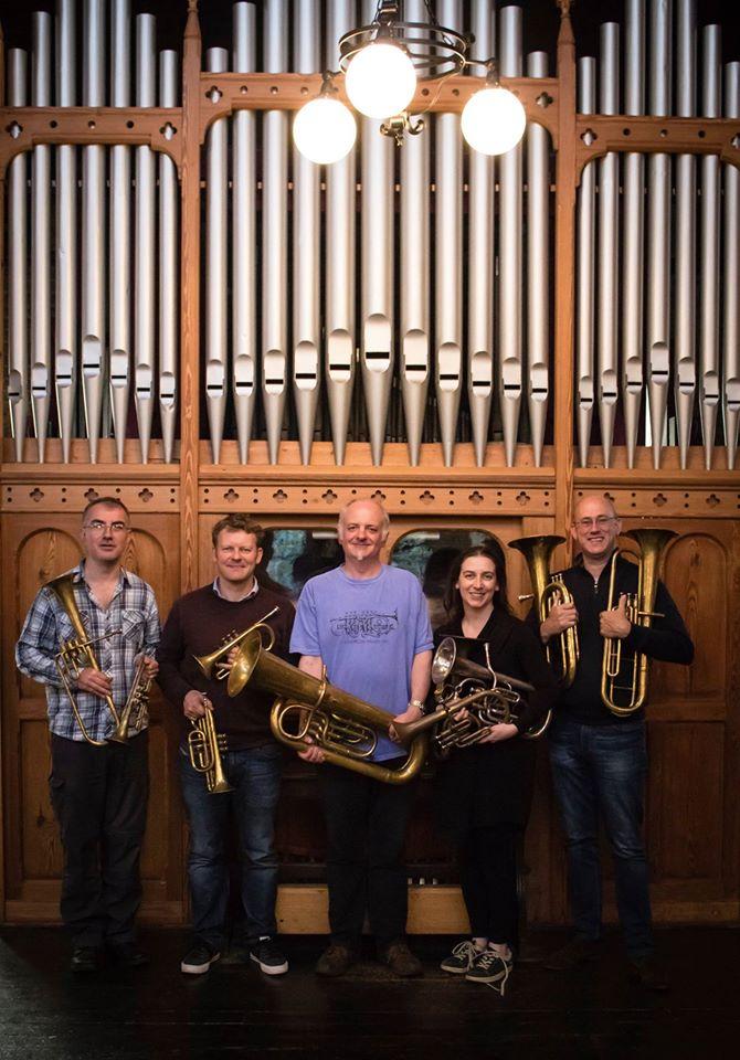 The Prince Regent's Band: Richard Thomas, Richard Fomison, Jeff Miller, Anneke Scott & Phil Dale.