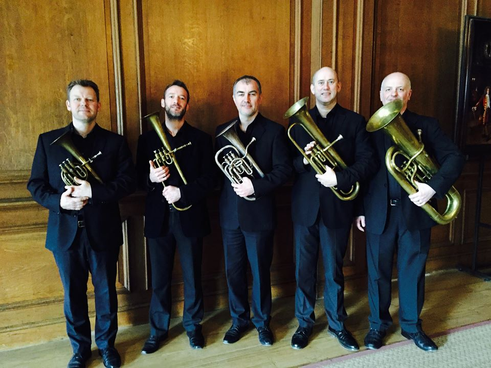 Richard Fomison, Fraser Tannock, Richard Thomas, Phil Dale and Jeff Miller - The Prince Regent's Band at Hampton Court