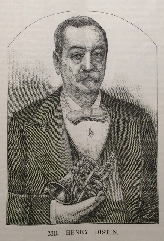 "Portrait of Henry Distin from ""Our Portrait Gallery"" The British Bandsman (March 1889, pg 133)"