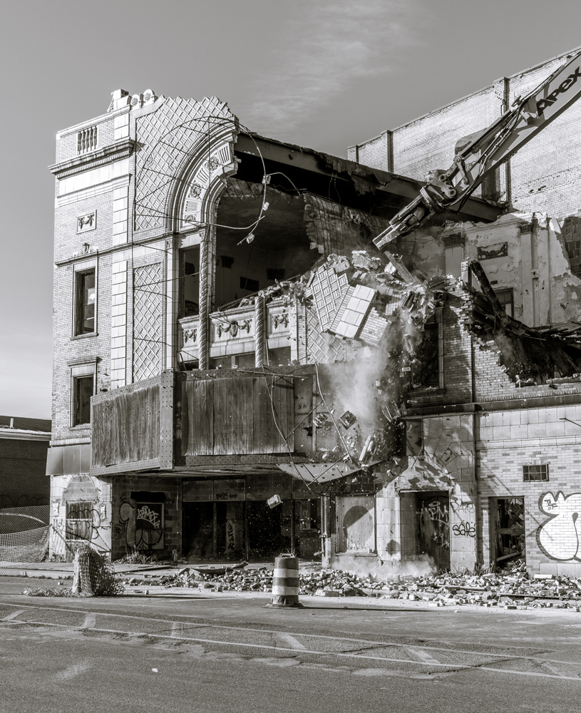 The Eastown Theater being demolished in 2015. Photo by  Eric Hergenreder