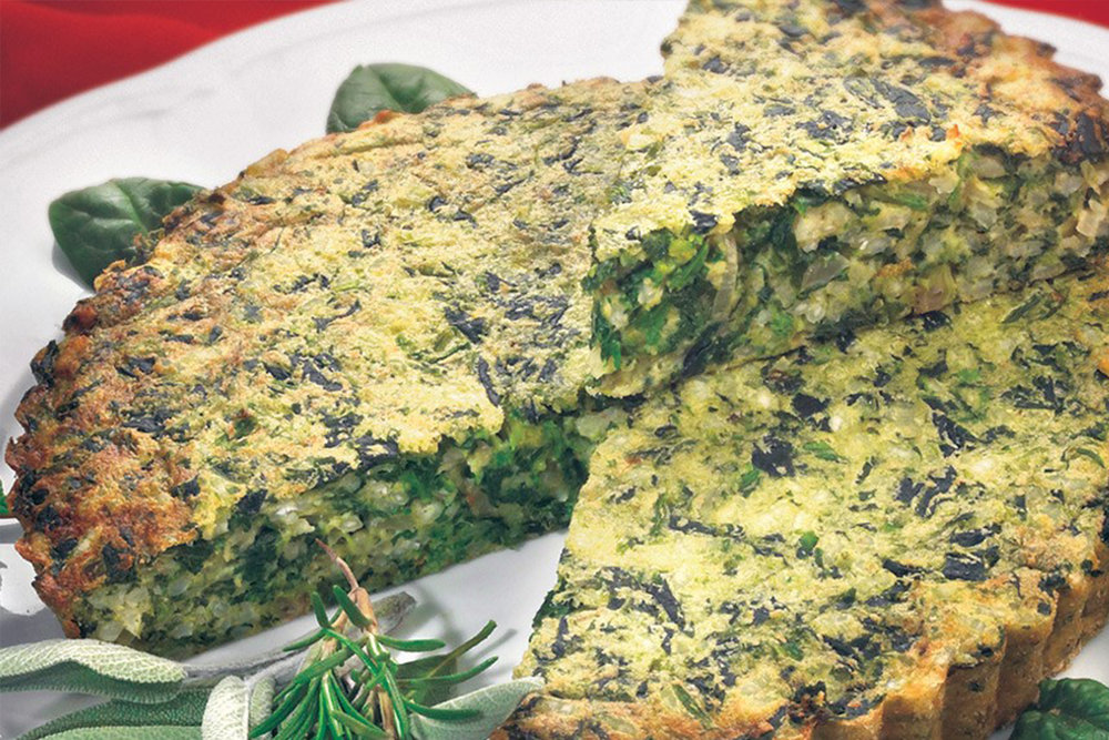 Torta Verde - Lisa learned how to make this in Italy years ago. It's been updated for Maine.