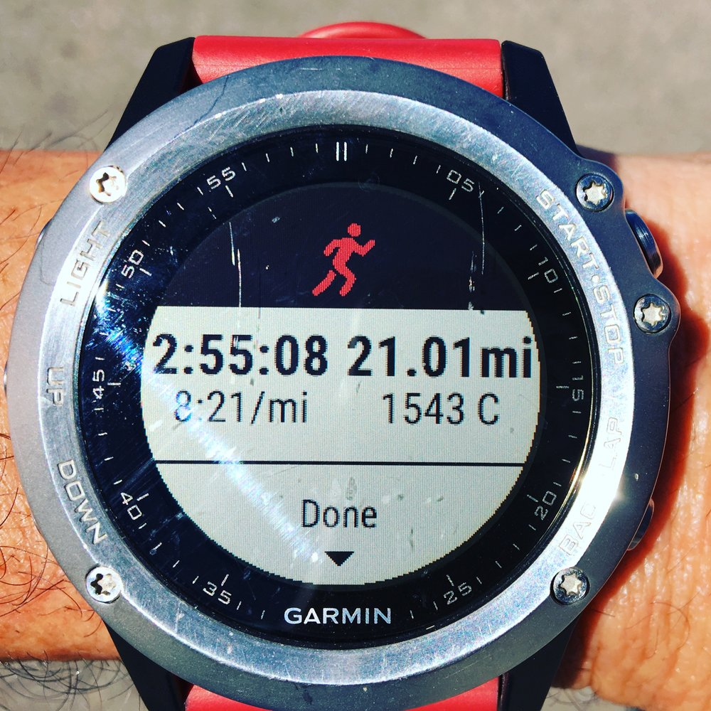 Long run day, mostly flat hence the nice pace!