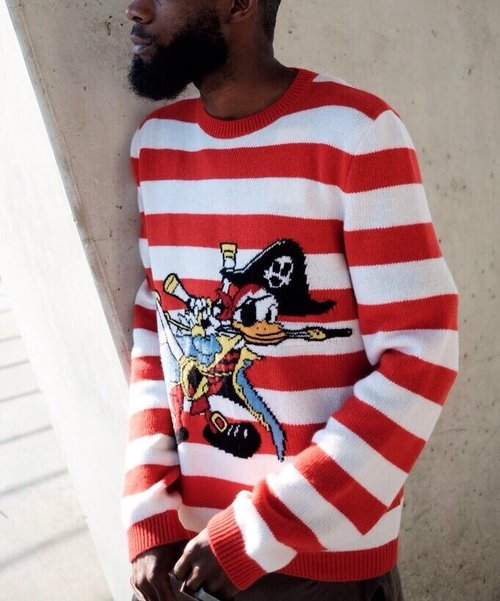 Gucci Striped Donald Duck Loved Sweatshirt Sade Tavia