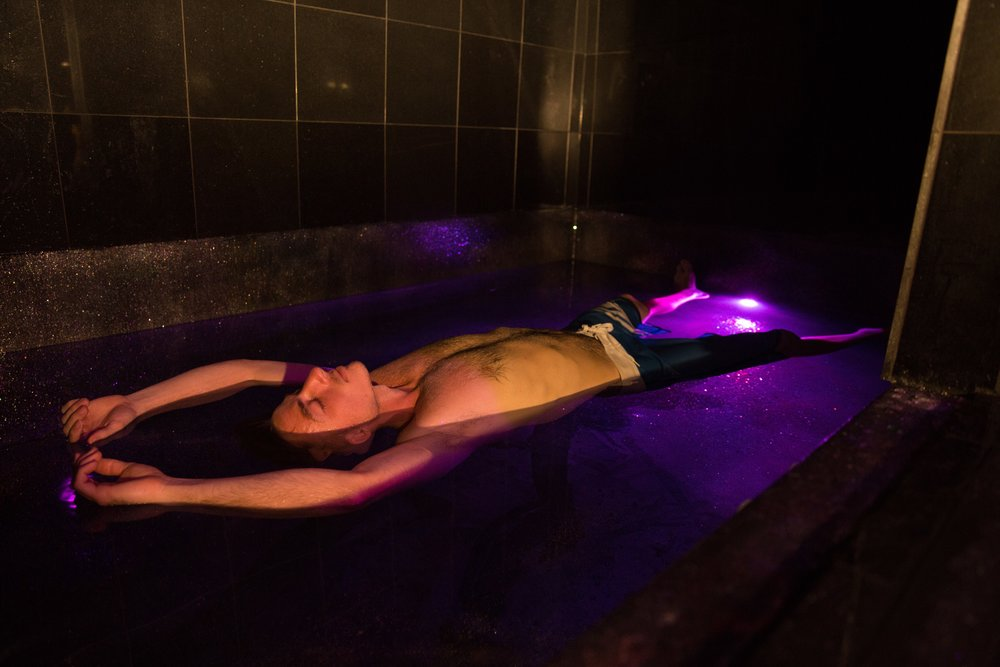 Rich Sanchez floating in The Galaxy Room