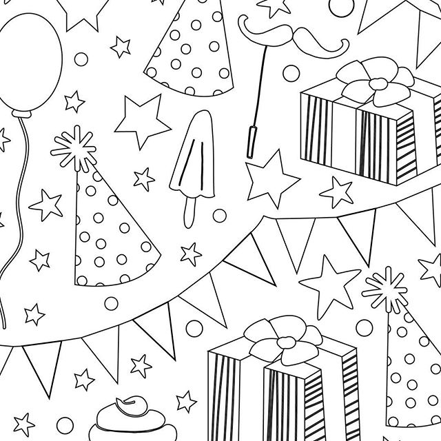 Head over to he blog now for a free birthday colouring page. Link in bio. sarahpurpledesigns.com #freebie #coloringbook #freecoloringpage #colouringbook #freecolouring #freecrafts