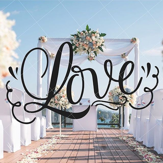 All you need is #love 😭 Hand lettered love typography. #handlettering #lovequotes #weddingsvg #svgcutfiles