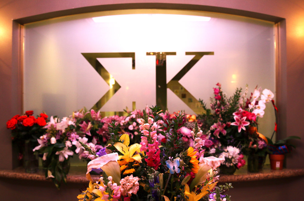 "After losing a sister, Christiana Duarte, in the Las Vegas shooting, the Arizona Zeta Omicron chapter of Sigma Kappa sorority received hundreds of flower bouquets and messages of support. ""We were all very overwhelmed with the amount of support we received,"" said Sigma Kappa Sorority President Kayley Schiffler."