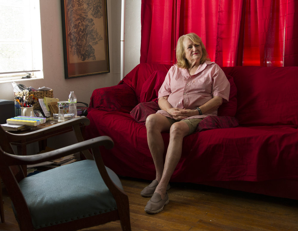 Grace Rich, North University Neighborhood Association President, sits inside her house of 25 years, which stands across the street from the University of Arizona's proposed Honors Complex in Tucson.