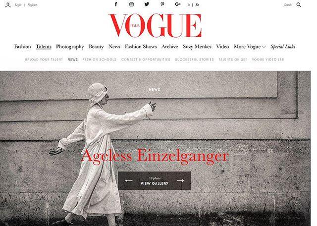 @agelesseinzelganger SS19 now on @vogueitalia  Article by Cecilia Musmeci  #agelesseinzelganger #SS19