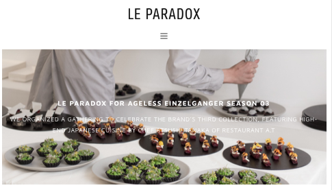 LE PARADOX - SS19 JULY 31, 2018 by CECILIA MUSMECI