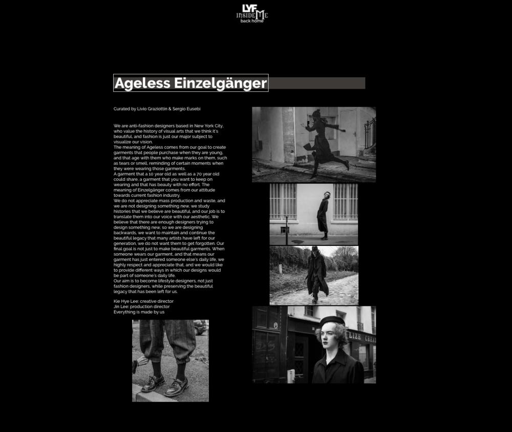 LYF Magazine - AW18 Curated by Livio Graziottin & Sergio Eusebi