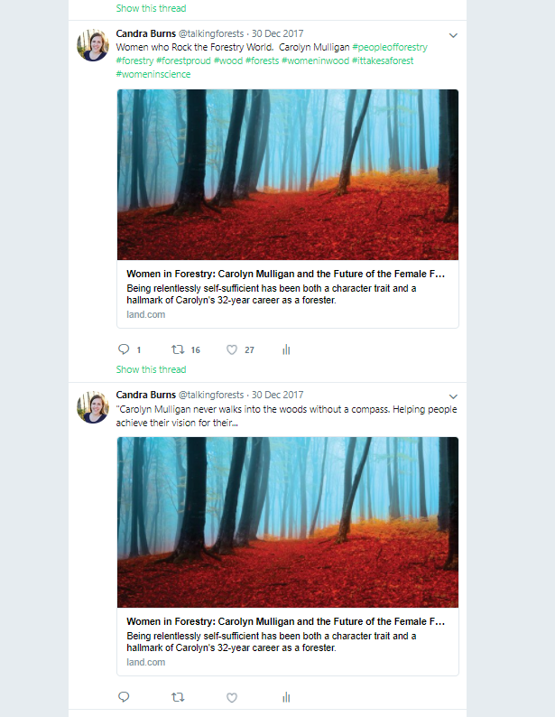 The post above shows so much engagement with only a few hashtags. No hashtags, no engagement, this makes us sad. Photo Credit: Talking Forests