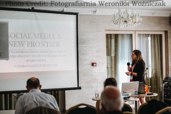 Social Media A New Frontier speaking at IFBC2018 in Poland Photo Credit:  Fotografiarnia