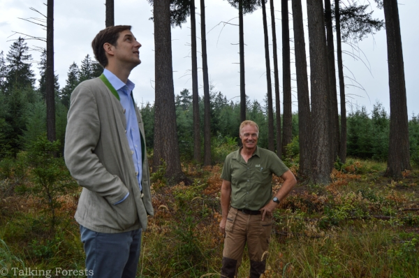 Armin and also joined by Count Cajetan gave Talking Forests a tour of the Toerring land. Photo Credit: Talking Forests