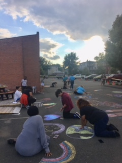 Youth and Adults Chalking 4 Peace 2018