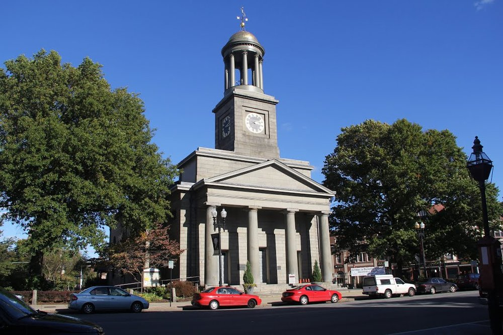 The First Parrish Church in Quincy Center.