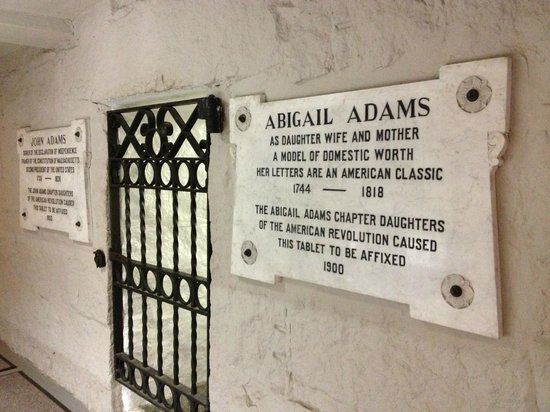 Adams' Crypt at The First Parish Church in Quincy.