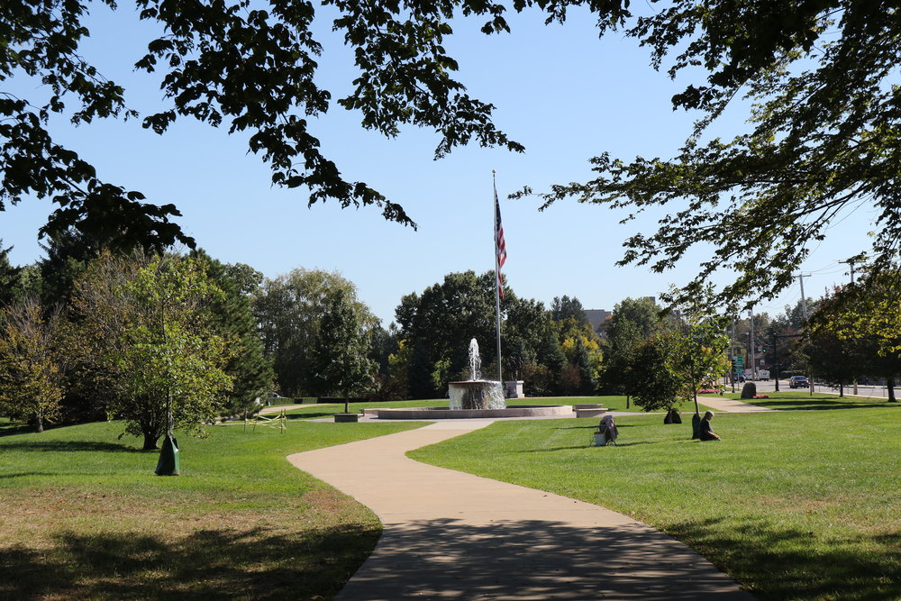 Merrymount Park, a passive park with a beautiful water feature and tribute to the Veterans of the Vietnam War is a short walk away from The Woodward School.