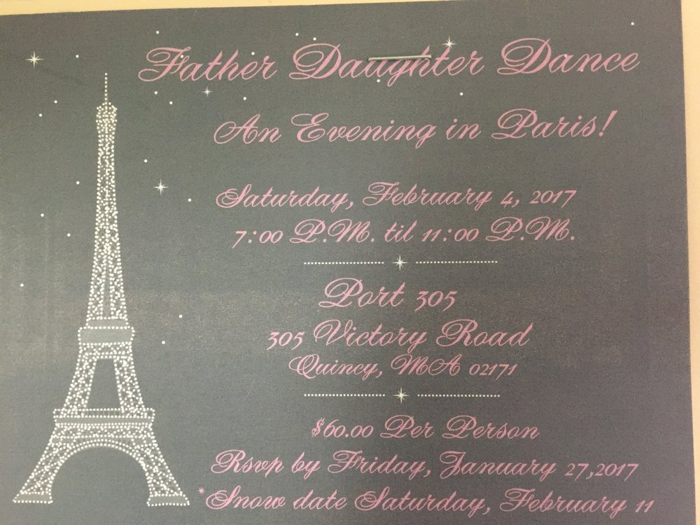 Don't forget to send in your RSVPs for the Father Daughter Dance!  Woodward students and alumnae are invited to bring fathers, grandfathers, uncles or another important father figure or role model to this great event.