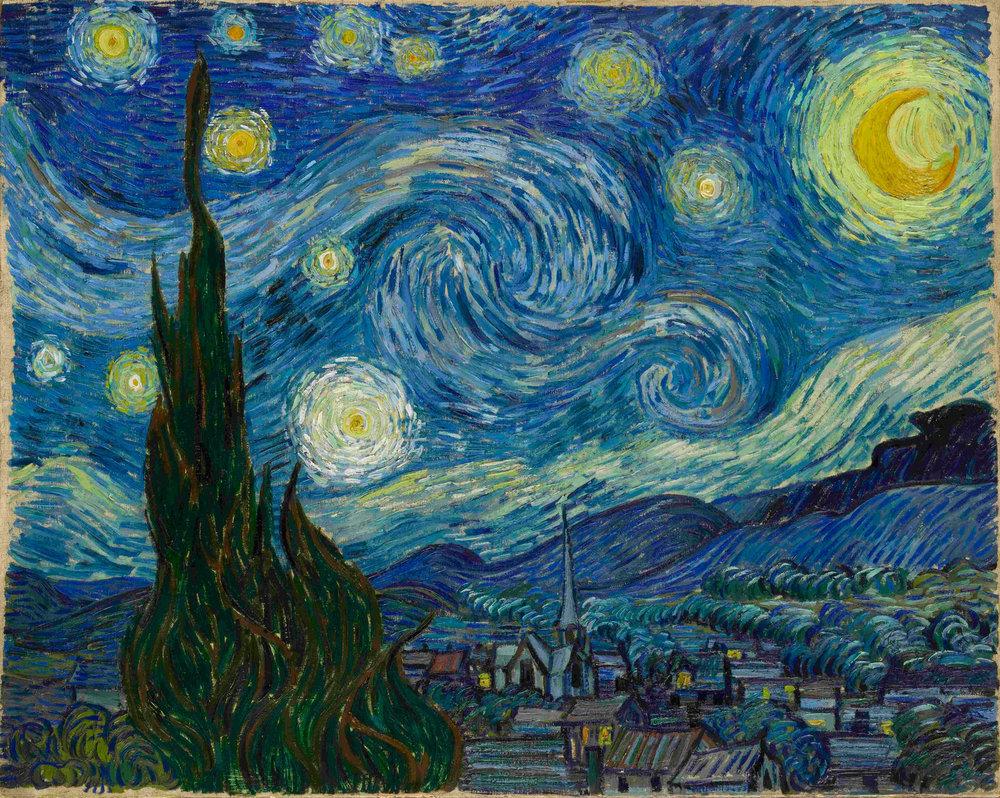 Starry Night,  Van Gogh, 1889