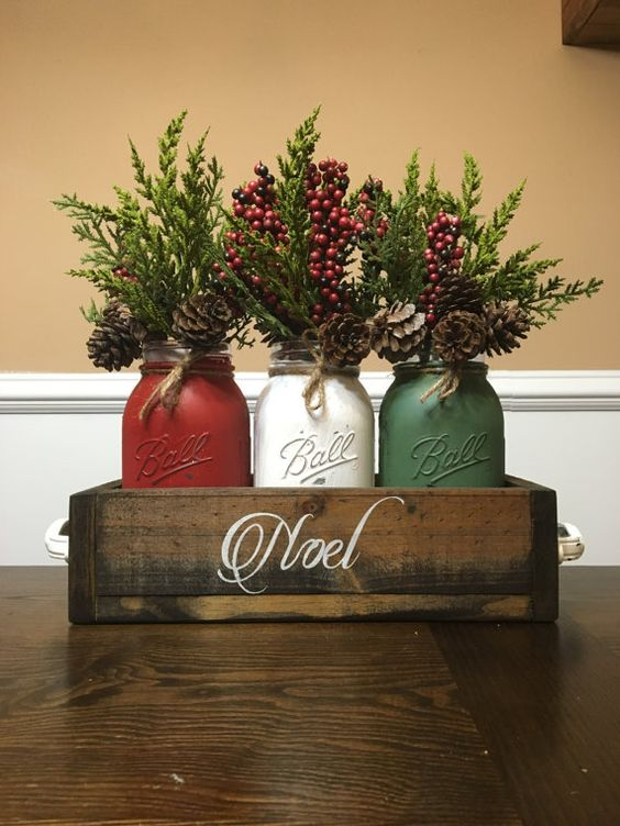 Mason Jar Centerpieces $40 per person