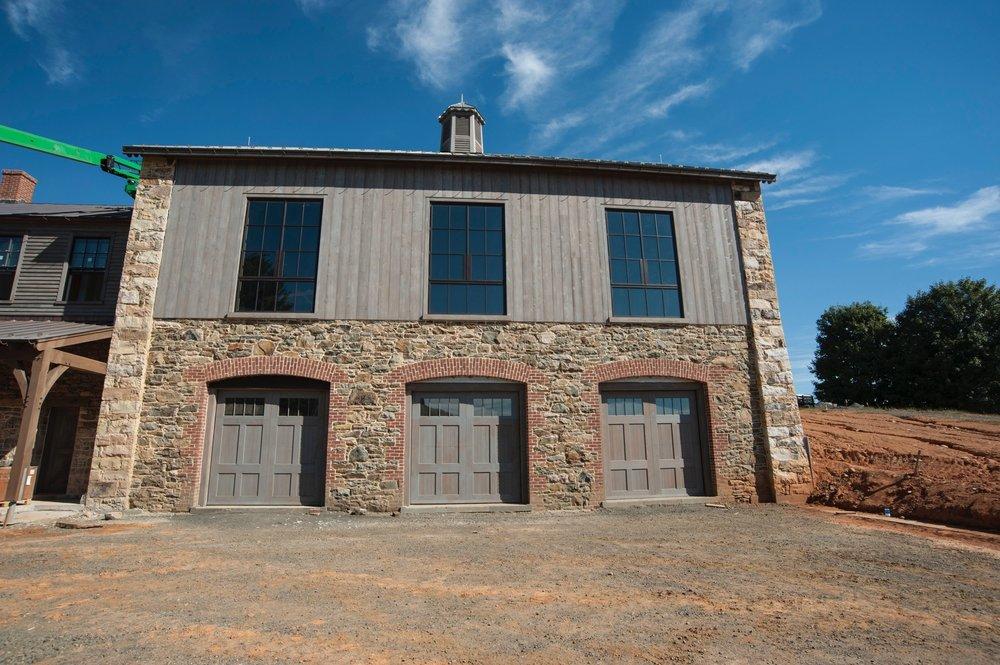Cochran's Stone Masonry was responsible for all the masonry work on this period inspired barn at Washington, Virginia.
