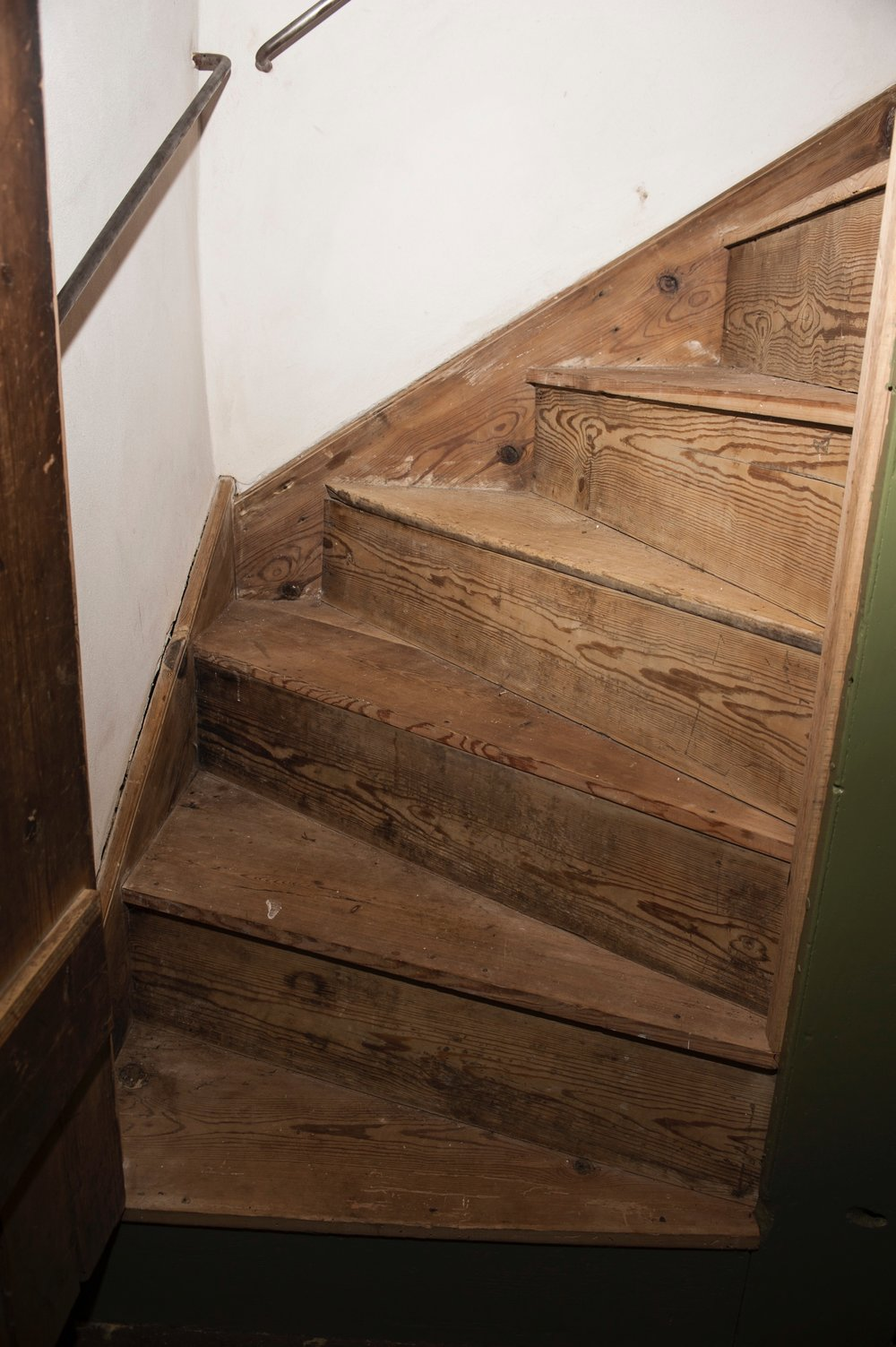 The house's winder stairs had been exposed to the elements for decades. Matt Parse restored them.