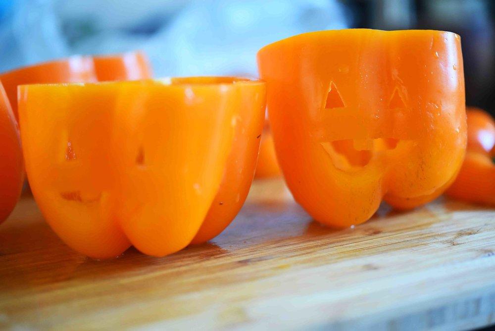 Jack-o-Lantern Veggie Dip Bell Peppers 5.jpg
