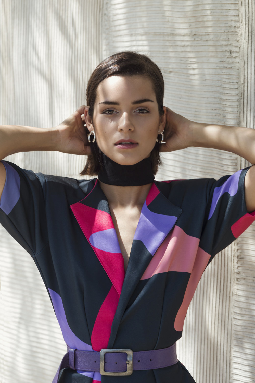 Jessi Gonzalez - NOA blazer / purple belt