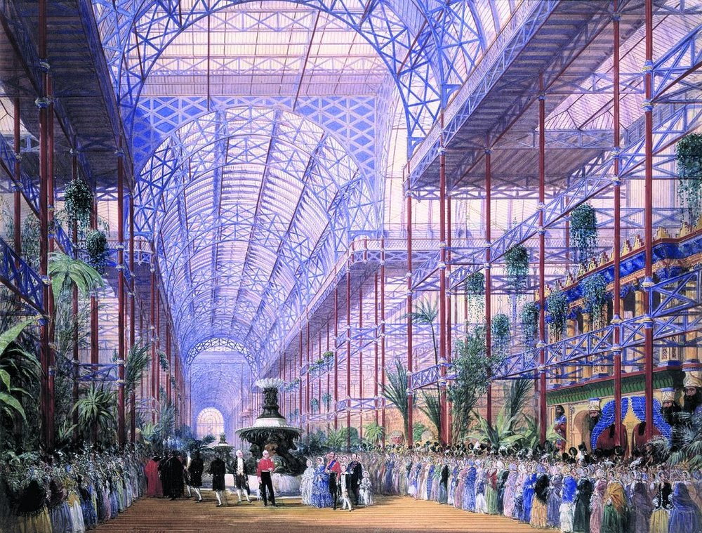 The 1851 World's Fair Crystal Palace was an engineering marvel discussed by Bill Bryson in  At Home: A Short History of Private Life