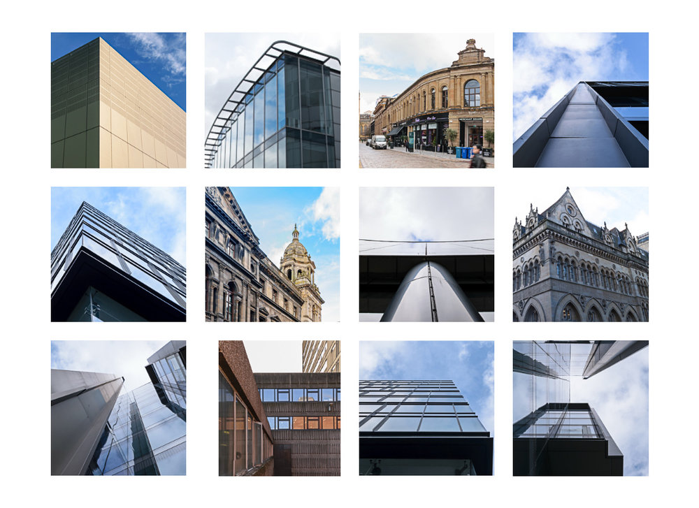 Contact sheet of the buildings I plan to return to in the near future