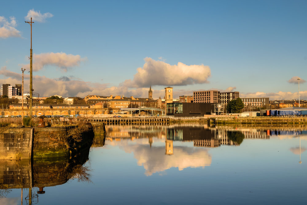 View from Govan Graving Docks, Glasgow