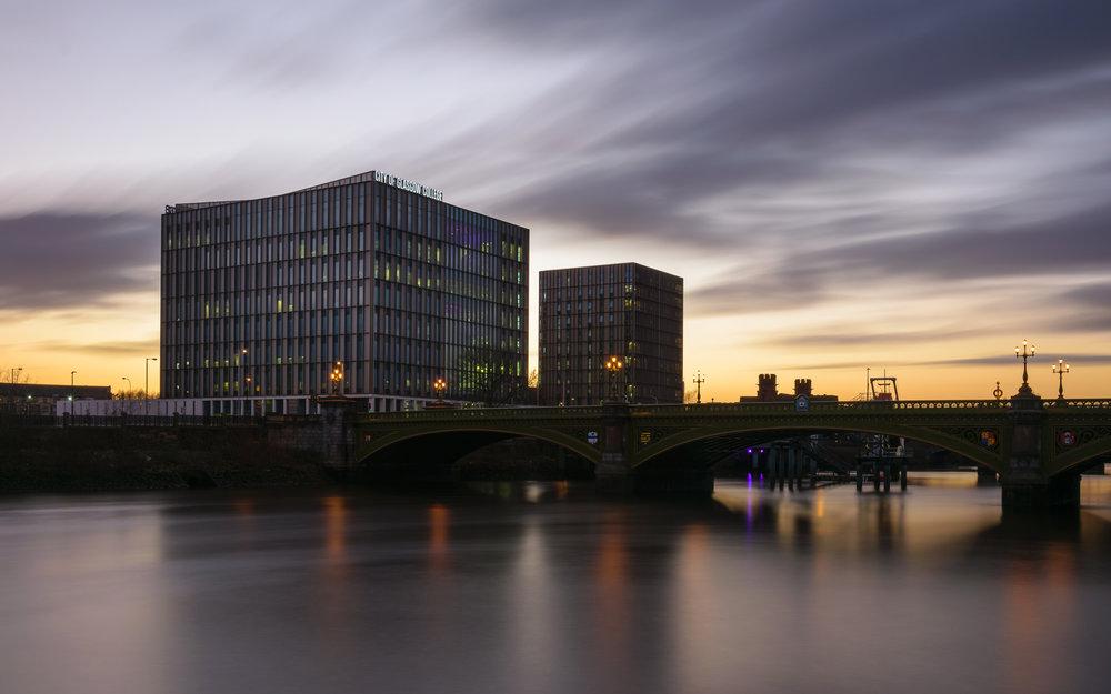 Long Exposure of Glasgow College Riverside Campus