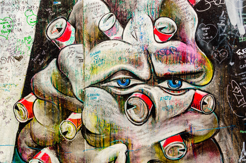 East Side Gallery Cans