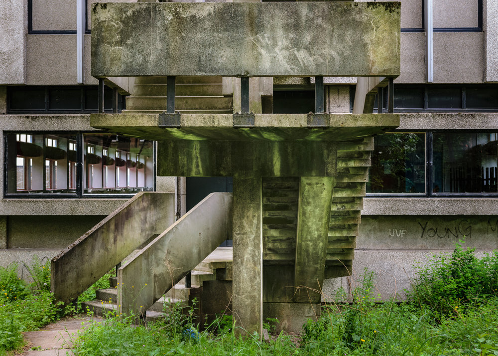 Glasgow Brutal Architecture QMU Steps