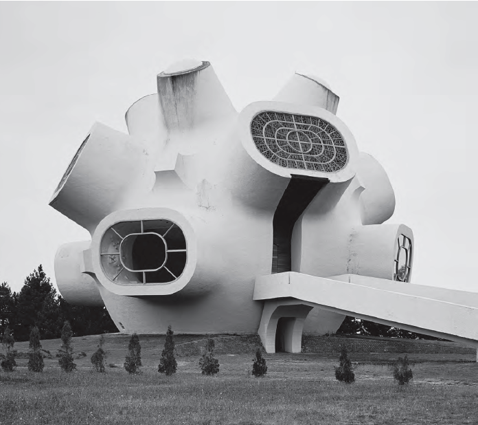 Monument Ilinden (Makedonium), Krushevo, Macedonia, 1974 by Jordan and Iskra Grabuloski. Image courtesy of Phaidon.