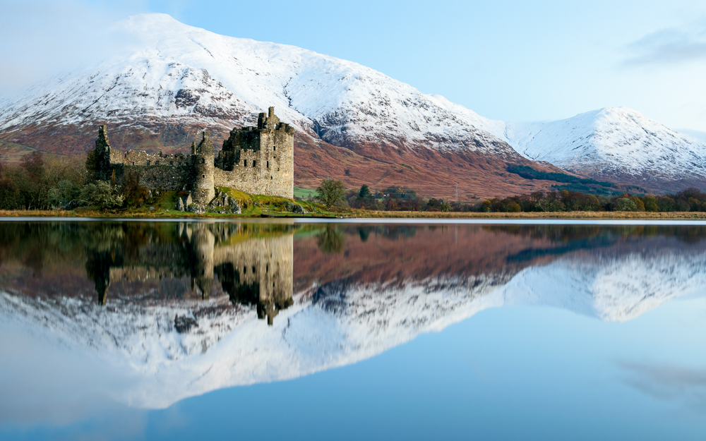 Landscape photography Kilchurn Castle Blue Hour