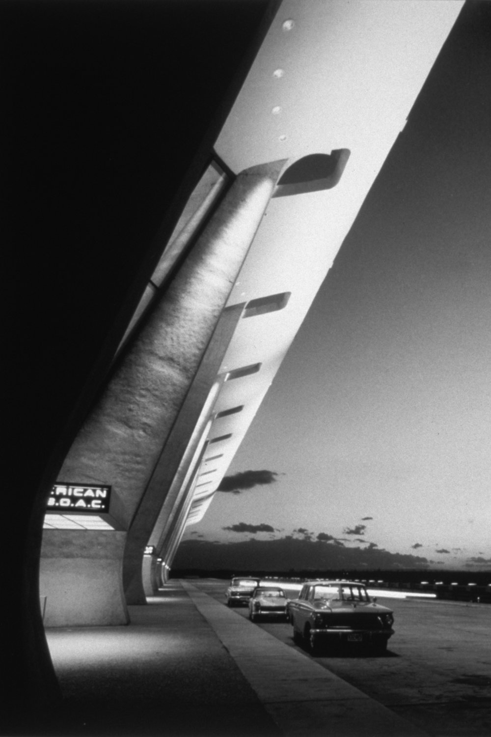 Dulles International Airport Terminal, Chantilly, Virginia, circa 1963