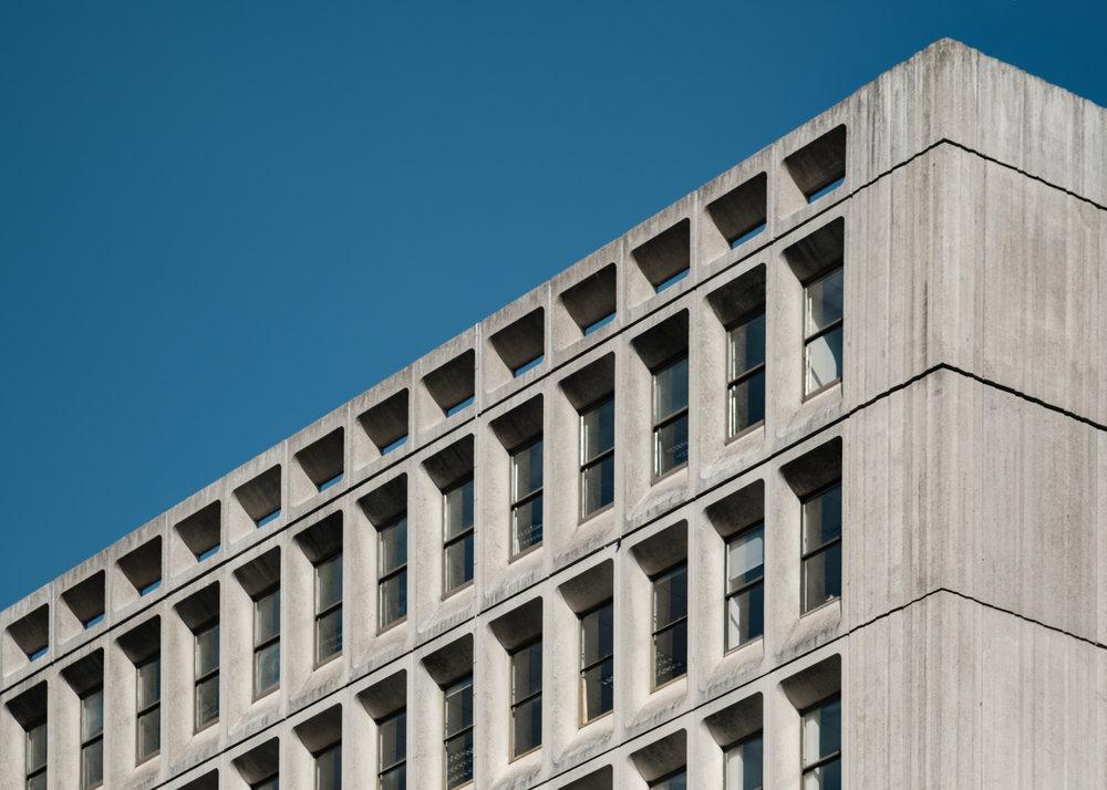 Brutalist architecture in Cardogan Street