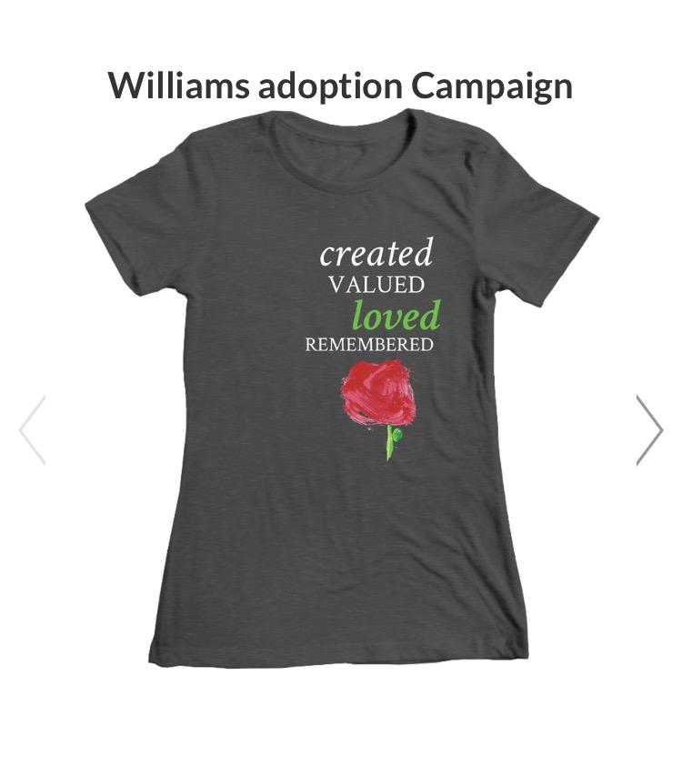 T-shirt special needs China adoption https://www.bonfire.com/williams-adoption-campaign/