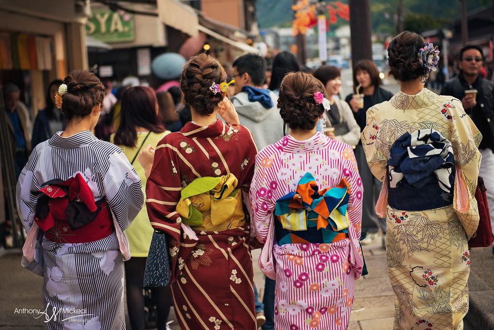 kimono girls in kyoto japan