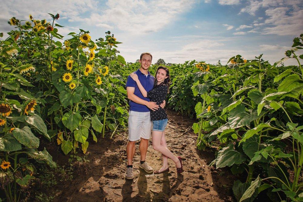 Sunflower farm engagement shoot _ Johnson's Locust Hall Farm _ Jobstown NJ-5.jpg